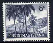 Christmas Island 1963 Island Scene 6c from definitive set, SG 14 unmounted mint*