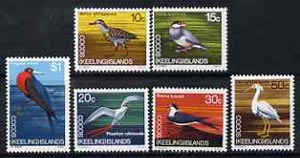Cocos (Keeling) Islands 1969 Birds, the set of 6 values from 1969 Decimal Currency def set unmounted mint, SG 14-19