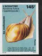 Senegal 1988 Molluscs 145f Giant East African Snail imperf from limited printing unmounted mint, as SG 944*
