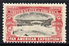 Cinderella - United States 1901 Pan American Exposition perforated label showing Buffalo Bridge in red & black unmounted mint*