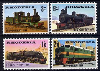 Rhodesia 1969 Beira-Salisbury Railway set of 4 unmounted mint, SG 431-34