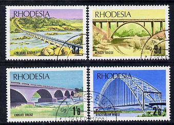 Rhodesia 1969 Bridges of Rhodesia set of 4 cds used, SG 435-8