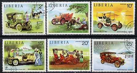 Liberia 1973 Vintage Cars set of 6 cto used, SG 1169-74