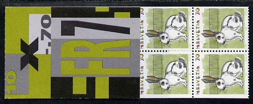 Booklet - Switzerland 1994 Rabbit 7f booklet complete and very fine, SG PS64