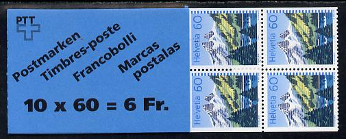 Booklet - Switzerland 1993 Lake Taney 6r booklet complete and very fine, SG PS62, stamps on lakes
