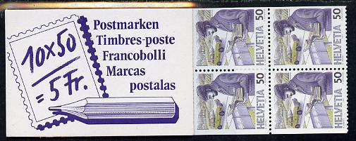 Booklet - Switzerland 1988 The Post Past & Present 5f booklet complete and very fine, SG PS60