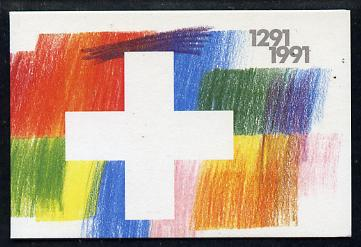 Booklet - Switzerland 1991 700th Anniversary 4f booklet complete and very fine, SG PS61