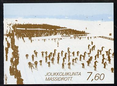 Booklet - Finland 1989 Sport 7m60 booklet complete and fine, SG SB27