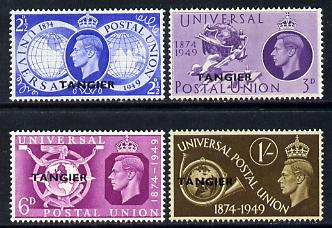 Morocco Agencies - Tangier 1949 Universal Postal Union Anniversary perf set of 4 mounted mint, SG 276-79
