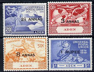 Aden 1949 KG6 75th Anniversary of Universal Postal Union set of 4 unmounted mint, SG32-35