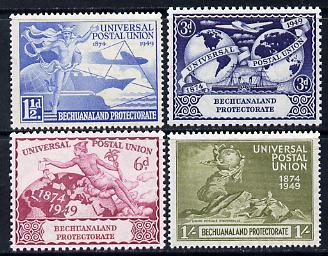 Bechuanaland 1949 KG6 75th Anniversary of Universal Postal Union set of 4 unmounted mint, SG138-41