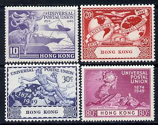 Hong Kong 1949 KG6 75th Anniversary of Universal Postal Union set of 4 unmounted mint, SG173-76