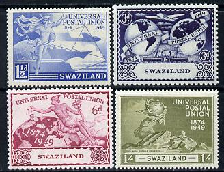 Swaziland 1949 KG6 75th Anniversary of Universal Postal Union set of 4 unmounted mint, SG 48-51