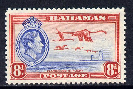 Bahamas 1938 KG6 Flamingos 8d unmounted mint SG 160