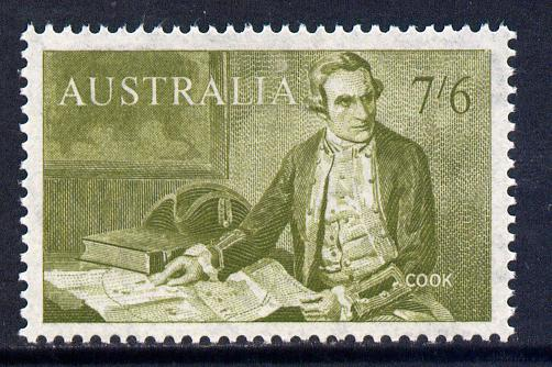 Australia 1963-65 Navigators 7s6d Captain Cook unmounted mint SG 357