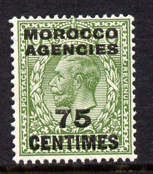 Morocco Agencies - French Currency 1925-34 KG5 75c on 9d olive-green unmounted mint, SG 208