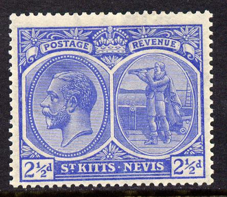 St Kitts-Nevis 1920-22 KG5 MCA Columbus 2.5d ultramarine mounted mint SG 28