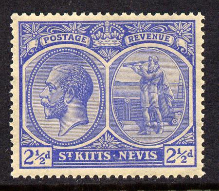 St Kitts-Nevis 1920-22 KG5 MCA Columbus 2.5d ultramarine unmounted mint SG 28