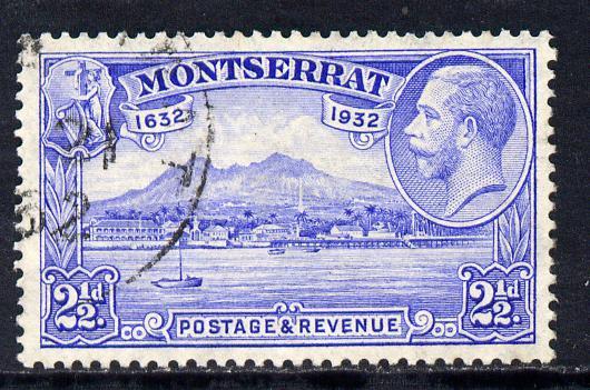 Montserrat 1932 KG5 Plymouth 2.5d ultramarine fine cds used SG 88