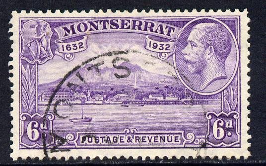 Montserrat 1932 KG5 Plymouth 6d violet fine cds used SG 90