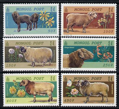 Mongolia 1999 Sheep Breeds perf set of 6 unmounted mint, SG 2780-85