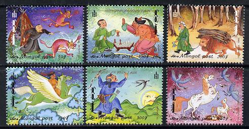 Mongolia 1999 Folk Tales perf set of 6 unmounted mint, SG 2736-41