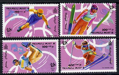 Mongolia 1998 Winter Olympic Games perf set of 4 unmounted mint SG 2630-33