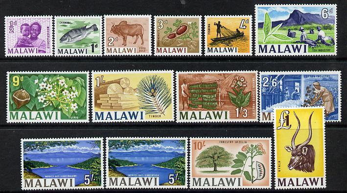 Malawi 1964 Pictorial definitive set complete 14 values incl both 5s values unmounted mint SG 215-27