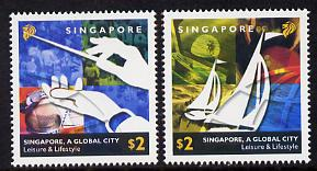 Singapore 2002 Singapore - A Global City 1st series set of 2 unmounted mint SG 1259-60