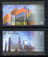 Singapore 2004 Singapore - A Global City 3rd series set of 2 unmounted mint SG 1405-06