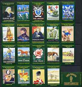 Match Box Labels - complete set of 20 Inn Signs, superb unused condition (Cornish Match Co for Ind Coope East Anglia)