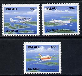 Palau 1989 Aircraft perf set of 3 unmounted mint SG 261-64