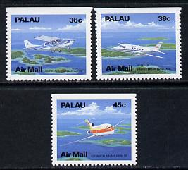 Palau 1989 Aircraft perf set of 3 (ex booklets - one straight edge) unmounted mint SG 261-64