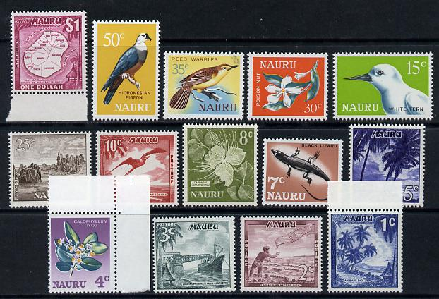 Nauru 1966 Decimal definitive set complete - 14 values unmounted mint SG 66-79