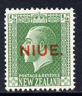 Niue 1917-21 KG5 1/2d green unmounted mint SG 23