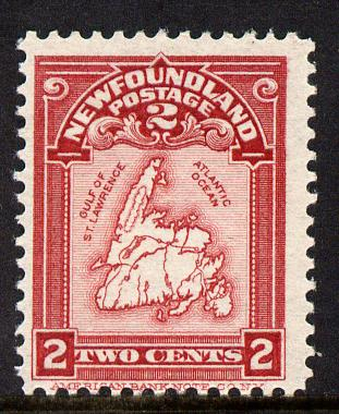 Newfoundland 1908 Map 2c lake unounted mint SG 94