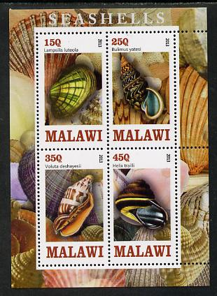 Malawi 2013 Shells perf sheetlet containing 4 values unmounted mint