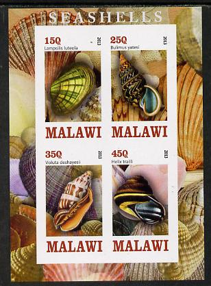 Malawi 2013 Shells imperf sheetlet containing 4 values unmounted mint