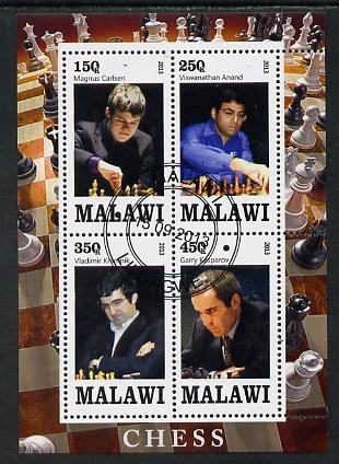 Malawi 2013 Chess perf sheetlet containing 4 values fine cds used