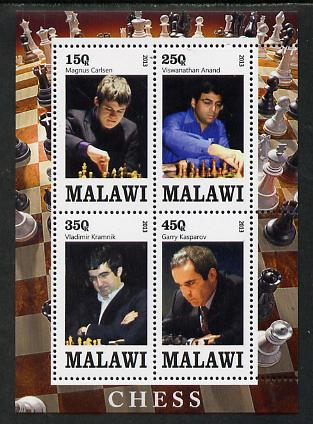 Malawi 2013 Chess perf sheetlet containing 4 values unmounted mint