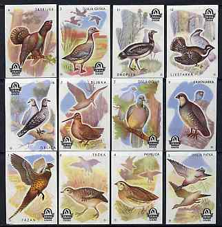 Match Box Labels - complete series of 12 Birds from the set of 20 Birds & Animals, superb unused condition (Yugoslavian Drava series)