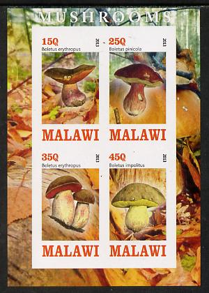 Malawi 2013 Fungi #2 imperf sheetlet containing 4 values unmounted mint