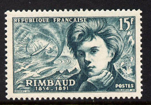 France 1951 Famous French Poets - Rimbaud 15f unmounted mint SG 1131