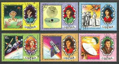 Liberia 1973 500th Birth Anniversary of Copernicus set of 6 cto used, SG 1176-81*