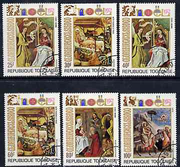 Togo 1972 Christmas (Religious Paintings) set of 6 cto used, SG 915-20*