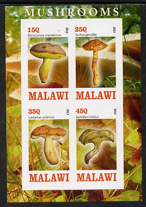 Malawi 2013 Fungi #4 imperf sheetlet containing 4 values unmounted mint