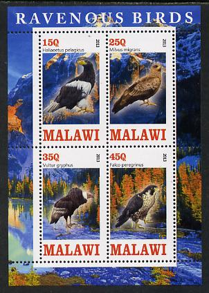 Malawi 2013 Birds of Prey perf sheetlet containing 4 values unmounted mint
