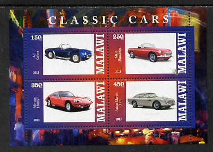 Malawi 2013 Classic Cars #2 perf sheetlet containing 4 values unmounted mint