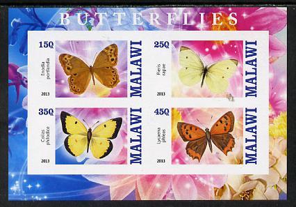 Malawi 2013 Butterflies #2 imperf sheetlet containing 4 values unmounted mint