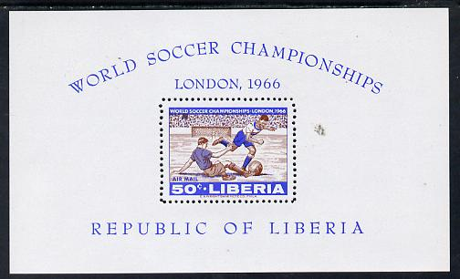 Liberia 1966 Football World Cup perf m/sheet unmounted mint SG MS 943